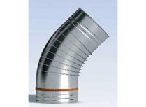 curva a 45° joint inox monoparete
