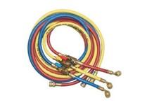 set 3 tubi flessibili e rubinetto gas r410a/r407c/r22