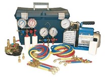 valigia mini kit vuoto/carica gas r410a/r407c/r22