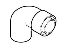 curva a 90° concentrica ø 60/100 mm