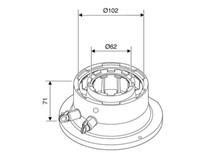 adattatore coassiale ø 60/100 mm, con prese di analisi combustio