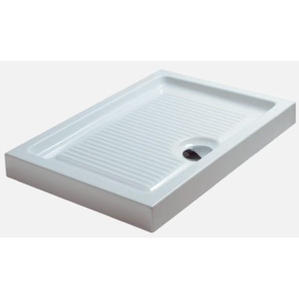 Piatto Doccia 70x120 Cm Plano Bianco Ceramica Globo Pd071 Bi