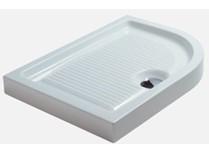 piatto doccia plano angolare piletta ø 90 mm