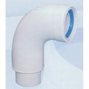 curva 90° doppia parete isolata in alluminio bianco ø 80 m/f