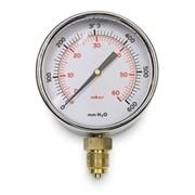 manometro gas radiale bassa pressione ø 80 mm - attacco ø 3/8
