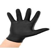 guanto nero monouso 8979 dispenser conf. 100 pz nero spessore 0,