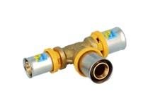raccordo a pressare multipinza per gas/acqua a t ridotto trident