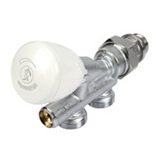 valvola monotubo termostatizzabile compatta con detentore incorp