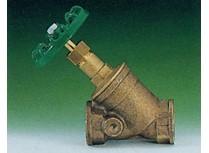 valvola inclinata in bronzo con molla sul valvolino f/f