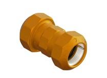 raccordo doppio in ottone per tubo pe