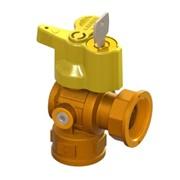 valvola a sfera a squadra per gas con serratura con 2 tappi pcp