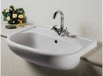 lavabo semincasso universale monoforo bianco