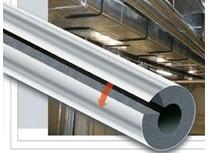 tubo isolante isoltec rivestito in alluminio - spessore 19 mm.