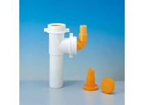 tubo in pp per lavastoviglie e lavatrici � 40 mm bianco