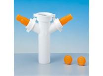 tee in pp per lavastoviglie e lavatrici � 40 mm bianco