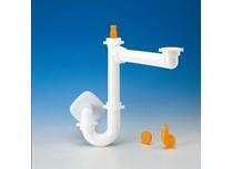 sifone spazio 1 per lavello con scarico � 40 mm bianco