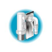 sifone in pp per lavatrice con piastra acciaio inox