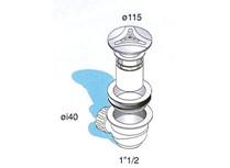 piletta sifonata per piatto doccia in pp con scarico a snodo