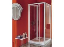 porta doccia ciao a soffietto con apertura verso l'interno profi