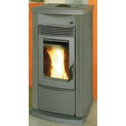 termostufa a pellets ecotherm h20 18 easy con rivestimento grigi