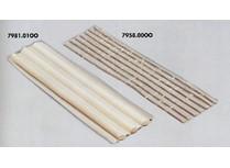 stucco bianco in barre mm.15x500
