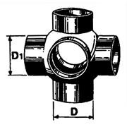 braga a sfera a 90° pehd con 4 derivazioni ø 110/110 mm