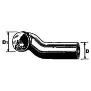 curva vaso sospeso orizzontale sx con guarnizione 1 labbro ø 110