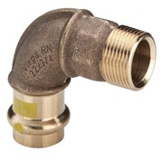 curva 90° fr 2614 femmina in bronzo per gas