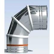 curva girevole 0-90° joint inox monoparete
