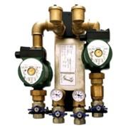 sistema di collegamento per termocamino a caldaia