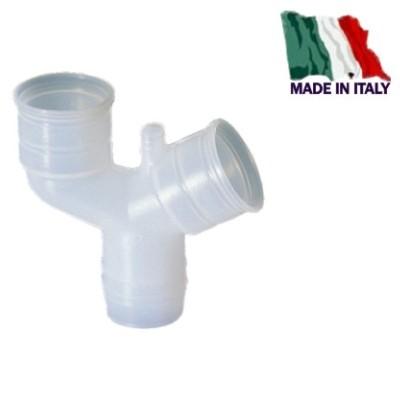 CONDENSA TUBO SCARICO CURVA MANICOTTO TEE CLIPS RACCORDO 2 3 VIE SIFONE BOX