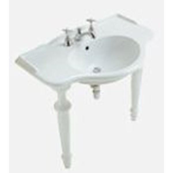 Ceramica Globo Gamba X Lavabo Consolle Serie Paestum Bianco