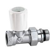 valvola termostatizzabile cromata diritta per tubi ferro