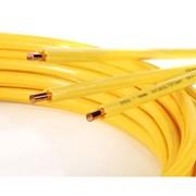 tubo rame rivestito in polietilene giallo in rotoli