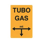 cartello segnalatore tubo gas a distanza