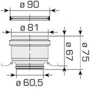 kit condotti separati ø 80 mm per uniqua