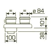 sdoppiatore ø 80 mm per caldaie a condensazione