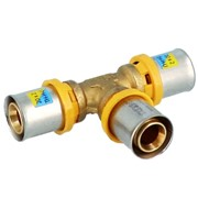 raccordo a pressare multipinza per gas/acqua a t trident