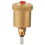 valvola automatica di sfogo aria con rubinetto di intercettazion