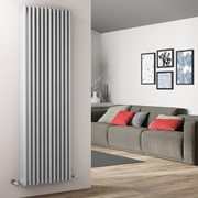 radiatore tubolare in acciaio tesi 4 colonne ral 9010