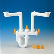 sifone spazio 2 per lavello inox 2 vasche con scarico ø 40 mm bi