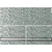 set canaletta nanoflow per doccia a pavimento in acciaioinox ver