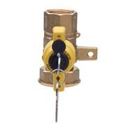 valvola a sfera gas per contatore a chiave ø 1.1/4