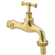 rubinetto erogatore curvo in ottone lucido pesante con portagomm