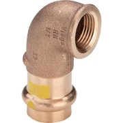 curva 90° fr 2614.2 femmina in bronzo per gas