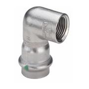 gomito 90° f/f 2314.2 inox per acqua